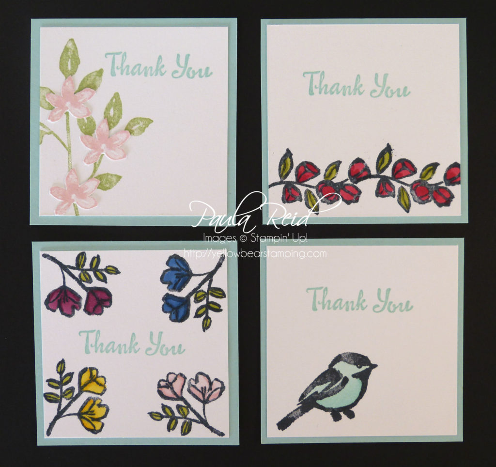 Petal Passion Thank You Cards Yellow Bear Stamping