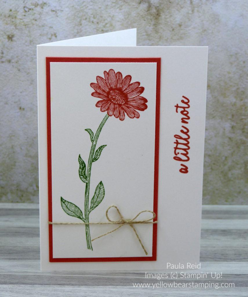 Daisy lane Notecard - Terracotta Tile