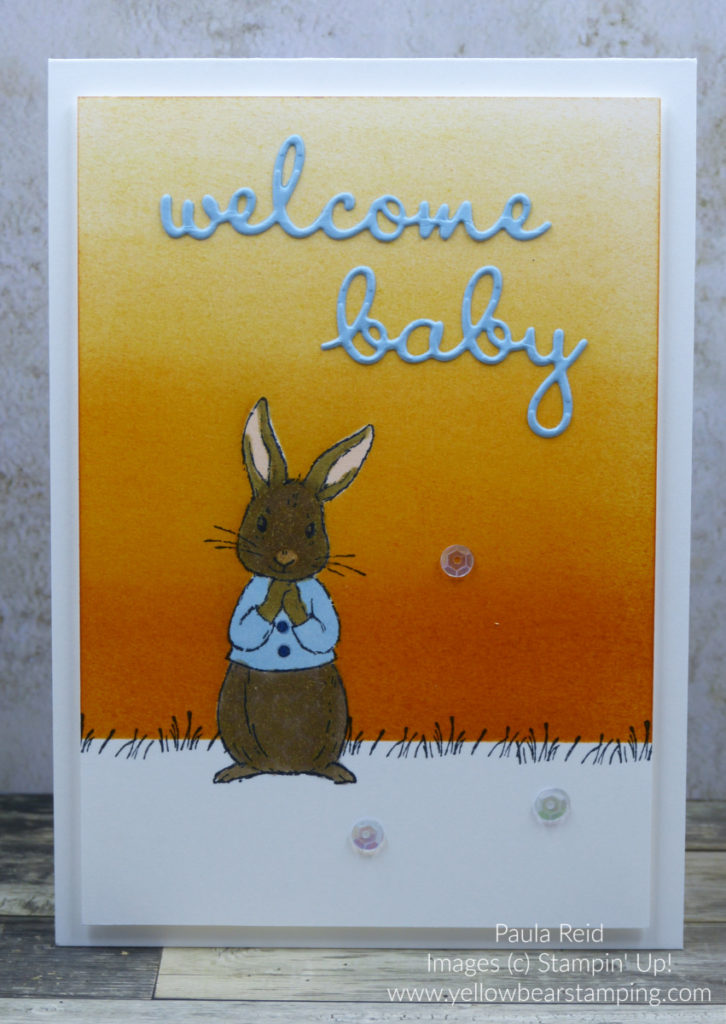 Fable Friends Baby Card - Balmy Blue