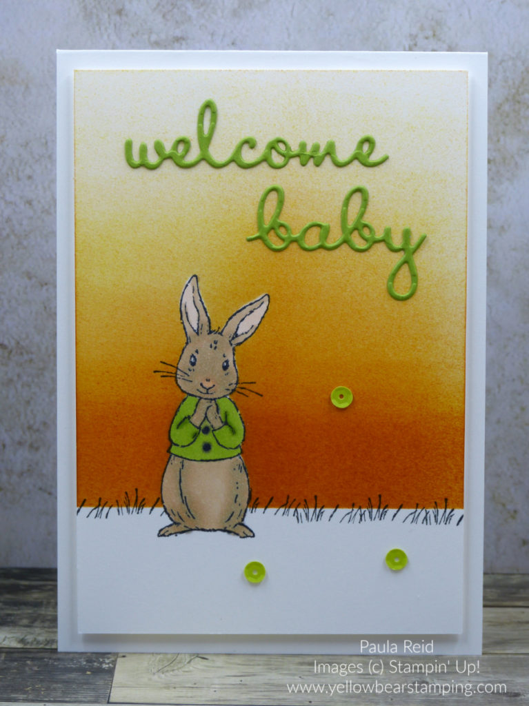 Fable Friends Baby Card - Granny Apple Green