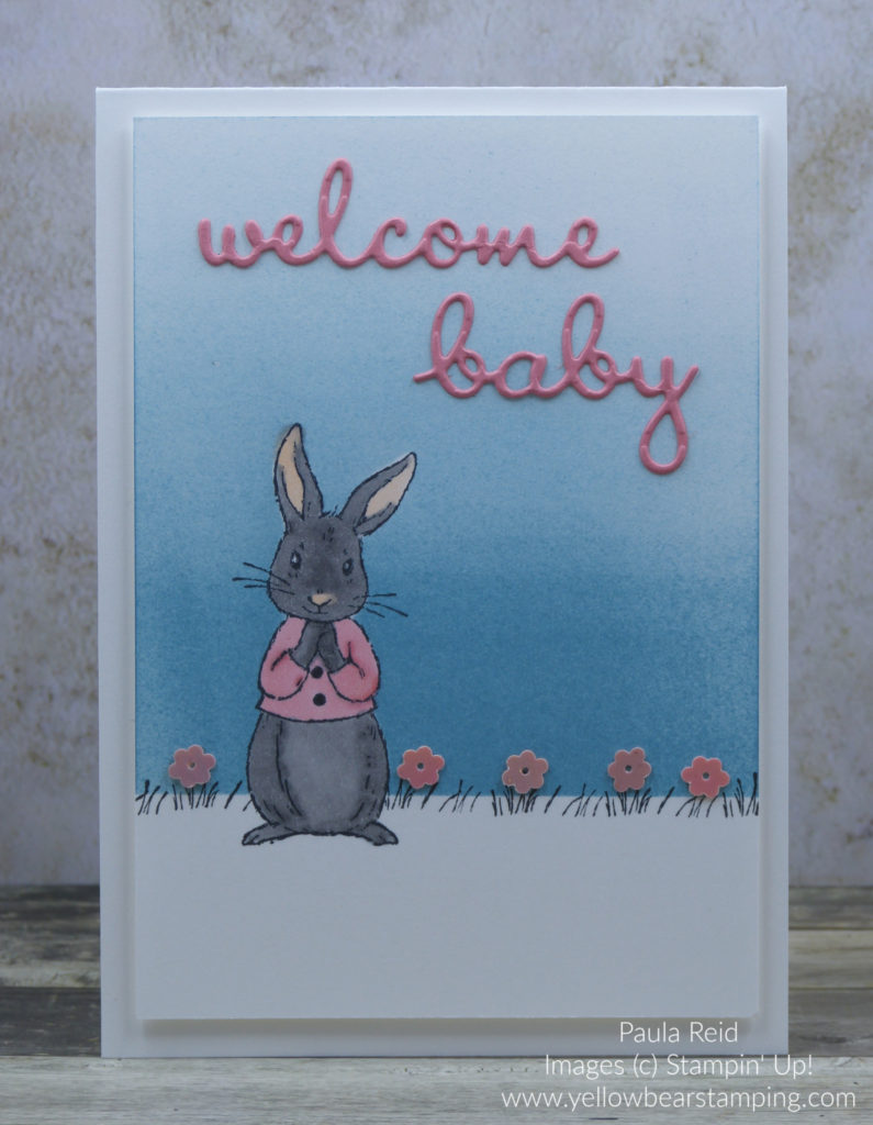 Fable Friends Baby Card - Flirty Flamingo