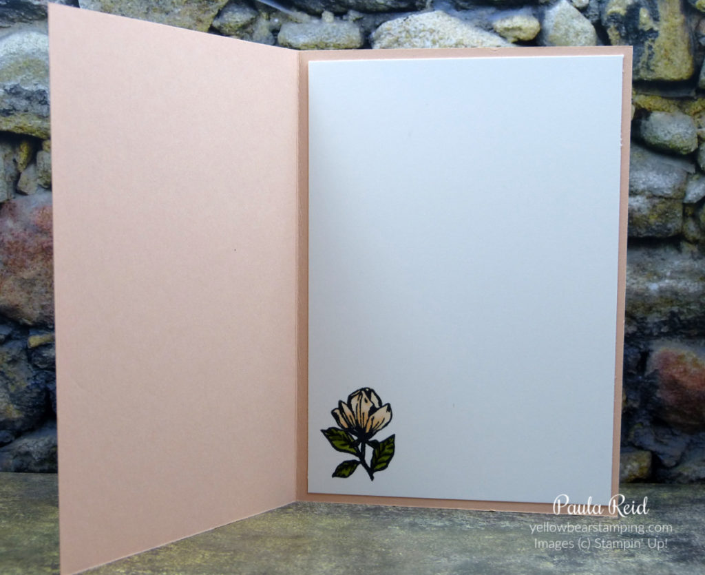 Magnolia Blooms - Inside of card