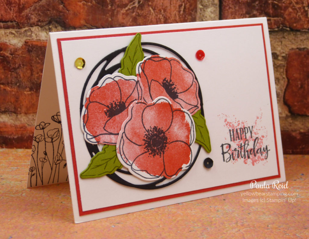 8 or 4 Fully Assembled Poppy//Poppies Die Cuts//Birthdays//Mother/'s Day//Remembrance