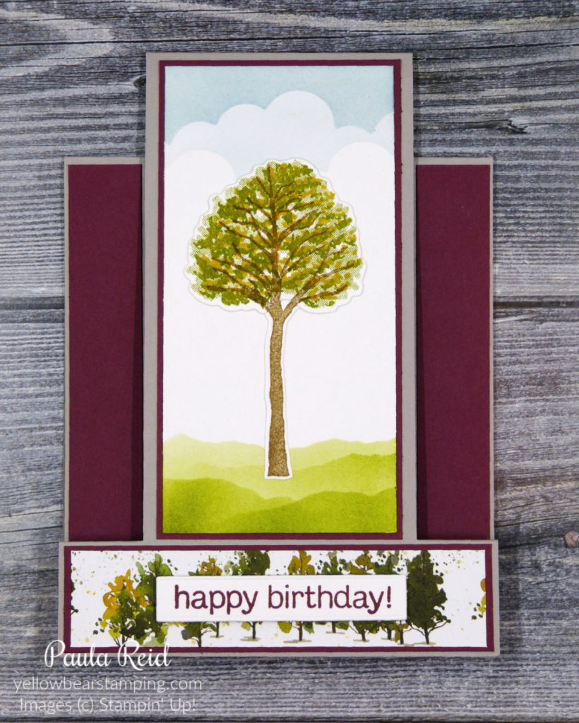 Vertical Centre Step Card using Beauty of the Earth Suite