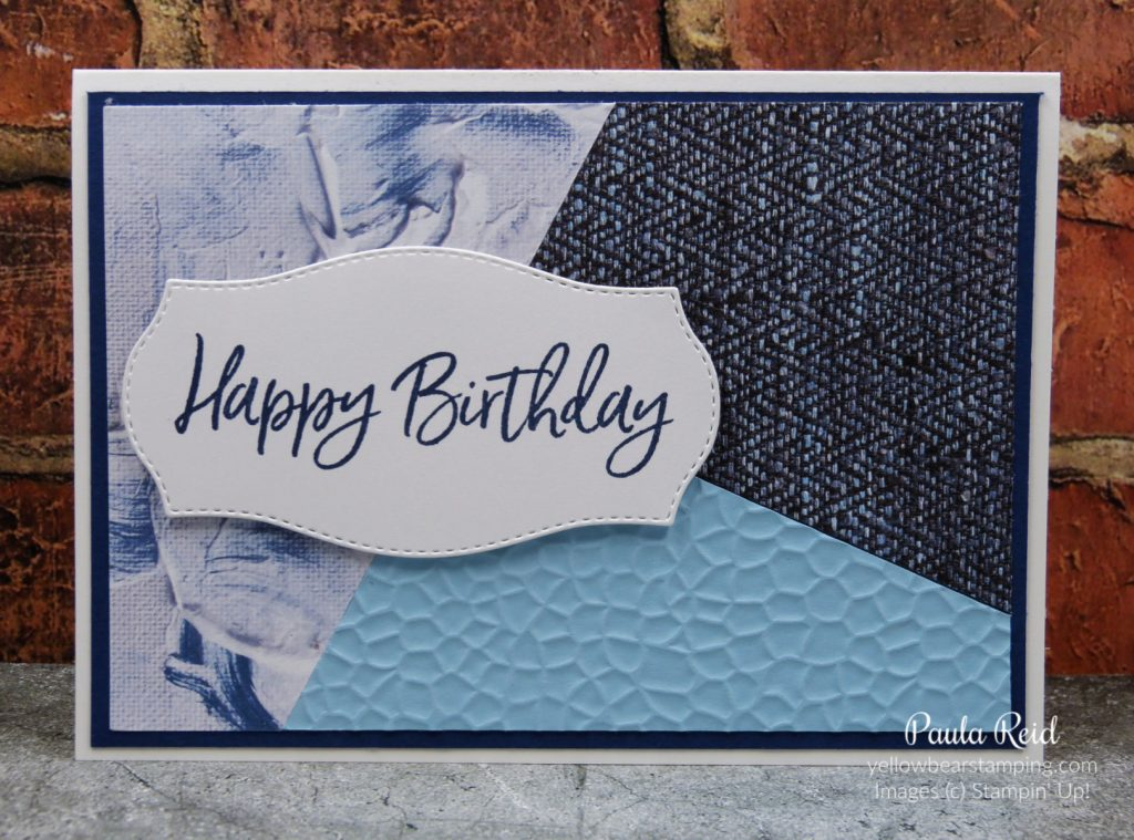 In Good Taste DSP Puzzle Cards featuring the Hammered Metal Embossing Folder
