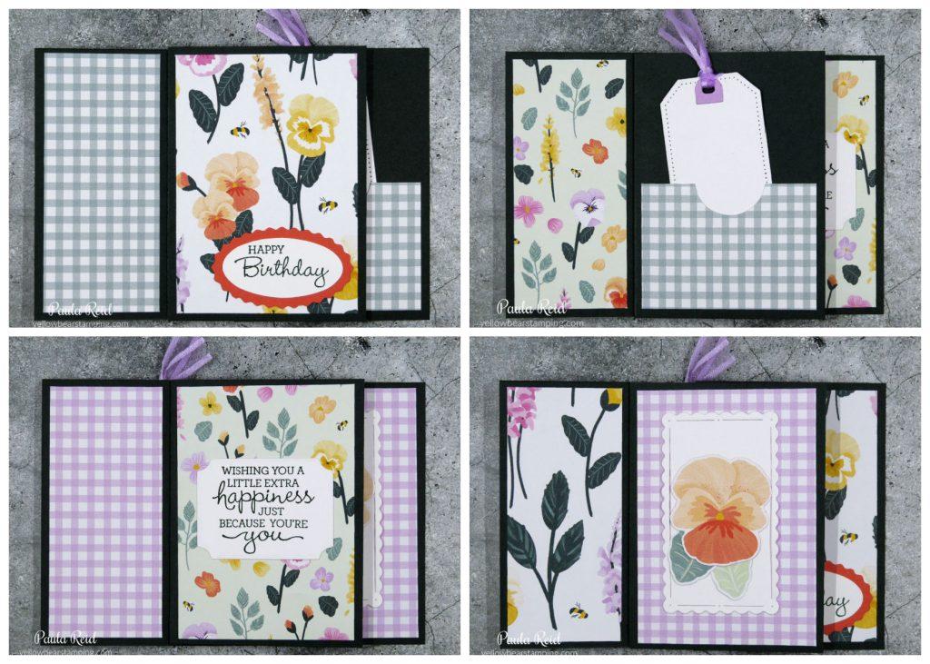 Tower Pinwheel Card - flat -using Pansy Petal Suite