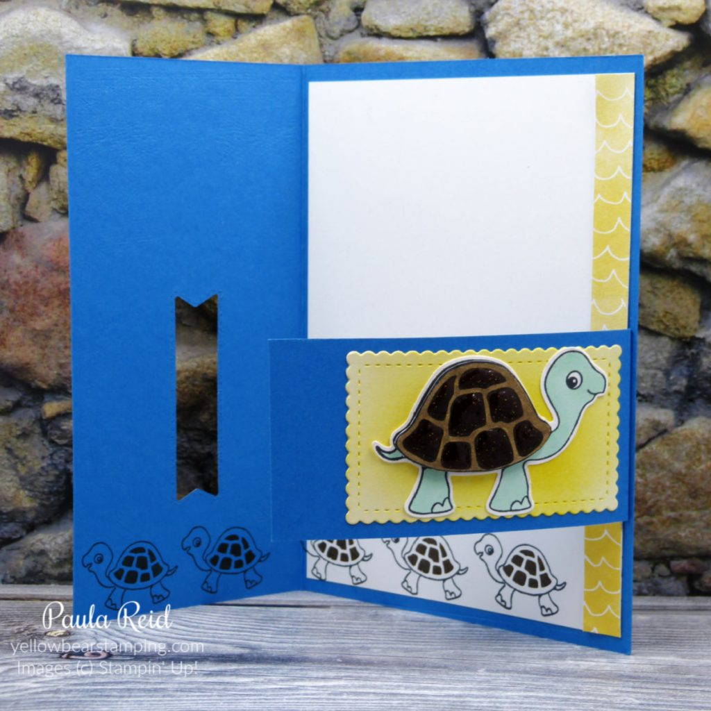 Buckle Card with Turtle Friends
