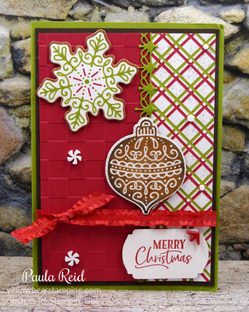Gingerbread & Peppermint Suite - Embossing