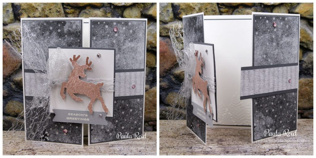 Peaceful Deer - Interlocking Gate Fold Card