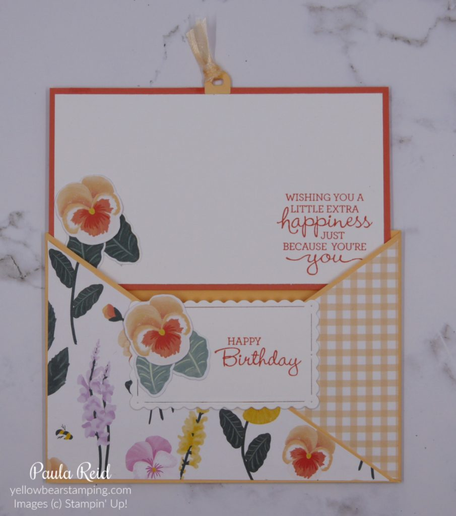 Pocket Card featuring Pansy Patch Bundle