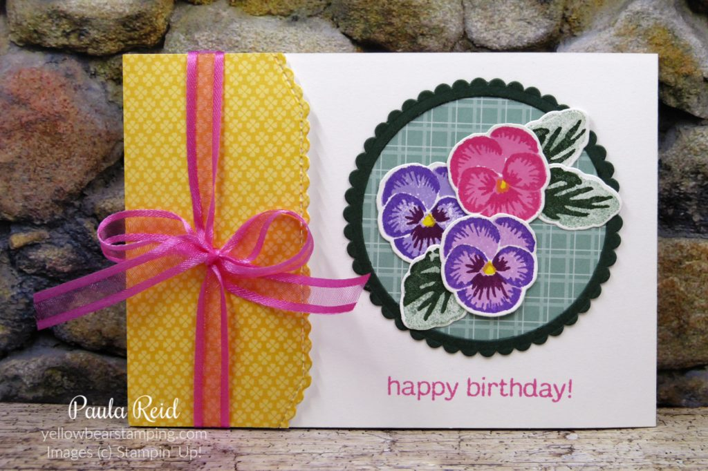 Side Flap Card using Pansy Patch Suite and Basic Borders Dies